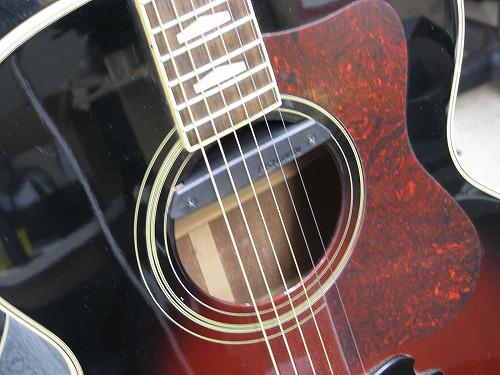 フォークギター改造 YAMAHA CJタイプ ピックアップ取付 2