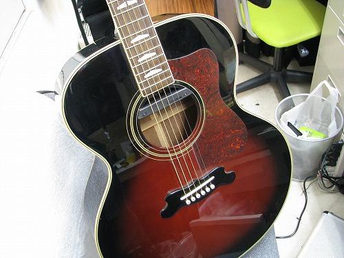 フォークギター改造 YAMAHA CJタイプ ピックアップ取付 3