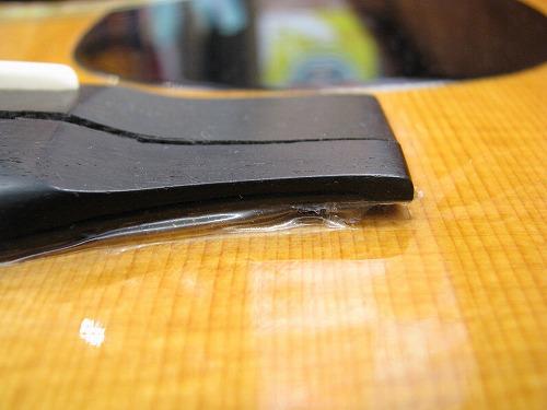 フォークギター 修理 MARTIN D-45 ブリッジ割れ 4