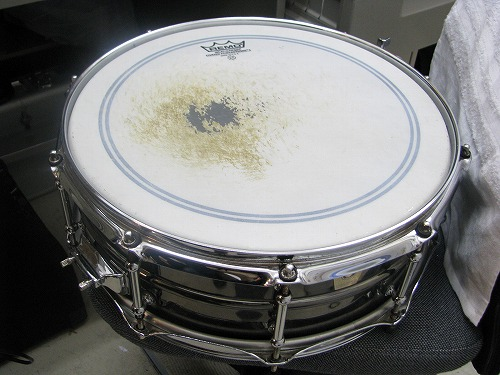 スネアドラム 修理 Ludwig(ラディック) メタルスネア 1