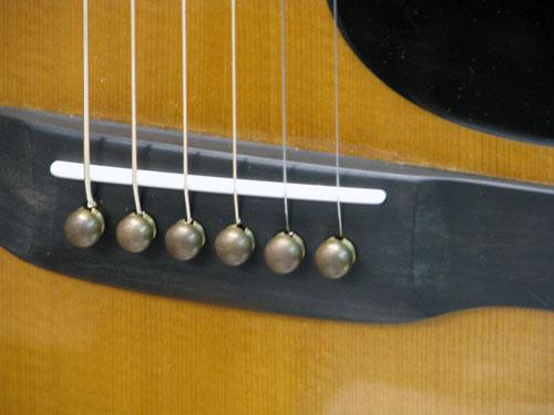 フォークギター 修理 MARTIN D-45 ブリッジ割れ 8