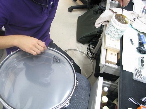 スネアドラム 修理 Ludwig(ラディック) メタルスネア 2