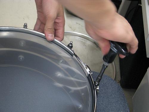 スネアドラム 修理 Ludwig(ラディック) メタルスネア 4