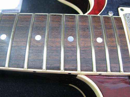 エレキギター修理 ボディサイド割れ ヘリテージ製セミアコ 3