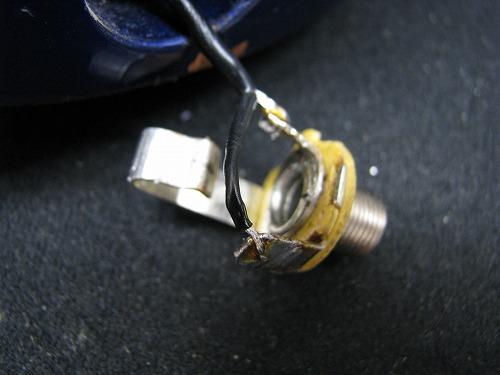エレキギター修理 ジャック配線修正 フェルナンデス ストラトタイプ 7