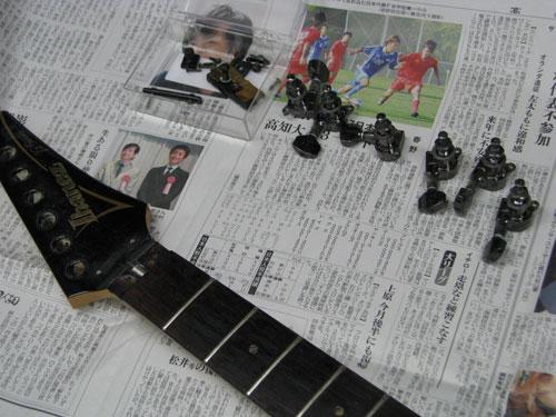 エレキギター修理 アイバニーズ 配線修正・全体調整・クリーニング等 6