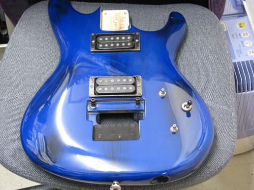 エレキギター修理 アイバニーズ 配線修正・全体調整・クリーニング等 7